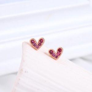 Mini Heart Studs Silver Posts